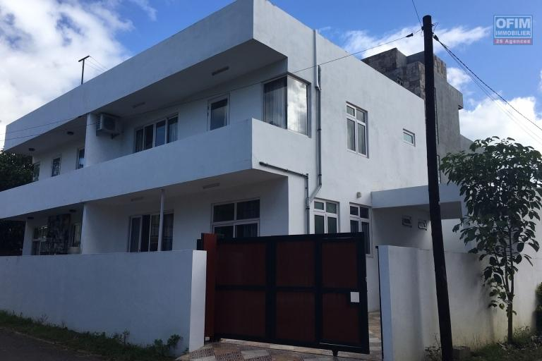 For rent 3 bedroom duplex with air conditioning in a quiet area in Grand Baie.