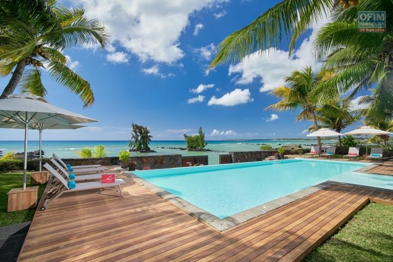 Rent several apartments T3 and T4 in luxury residences on the waterfront in Trou aux Biches.