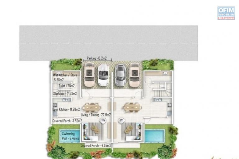 Local sale project of 12 duplexes of 115 m2 with swimming pool in Arsenal.