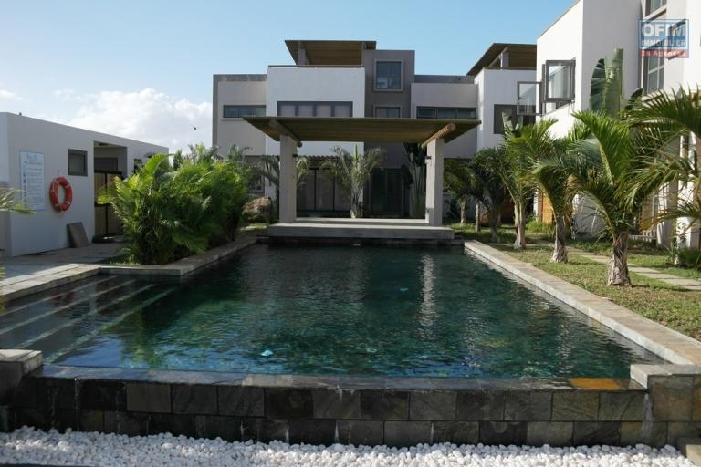 Flic en Flac 3 bedroom apartment rental in a luxury residence with swimming pool