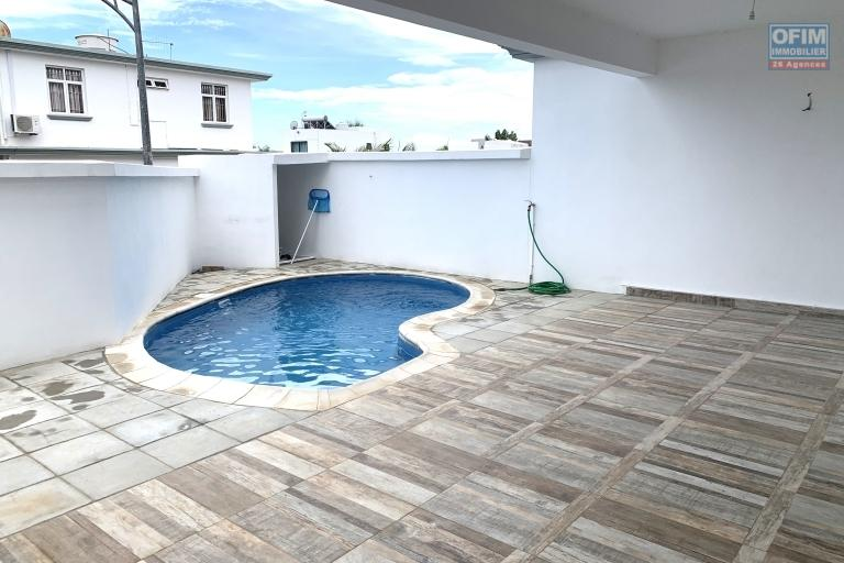 Flic en Flac for rent recent three bedroom duplex villa with swimming pool located in a quiet and residential area