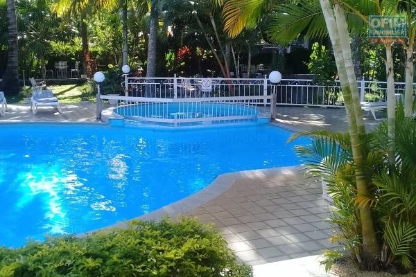 For sale resort with swimming pool and garden a minute walk to the beach at Mont Choisy.