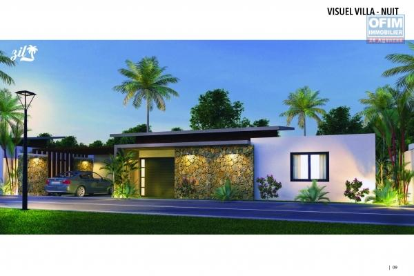 For sale beautiful villa of 200 m2 contemporary style with pool in a small residence in Grand Bay.