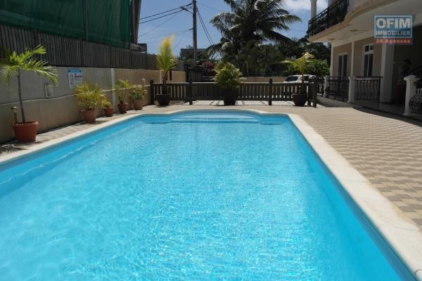 Flic en Flac rental of a beautiful 3 bedrooms apartment  in a  secure residence with pool.