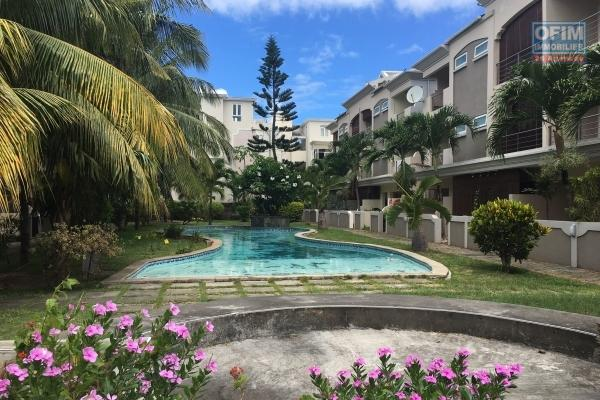 4 bedroom triplex apartment in Grand Baie city center in secure residence with swimming pool.