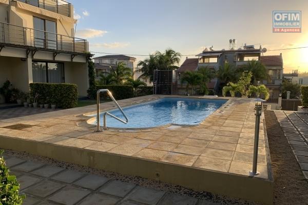 Flic en Flac rental of a 3 bedroom triplex with swimming pool and open view of Flic en Flac