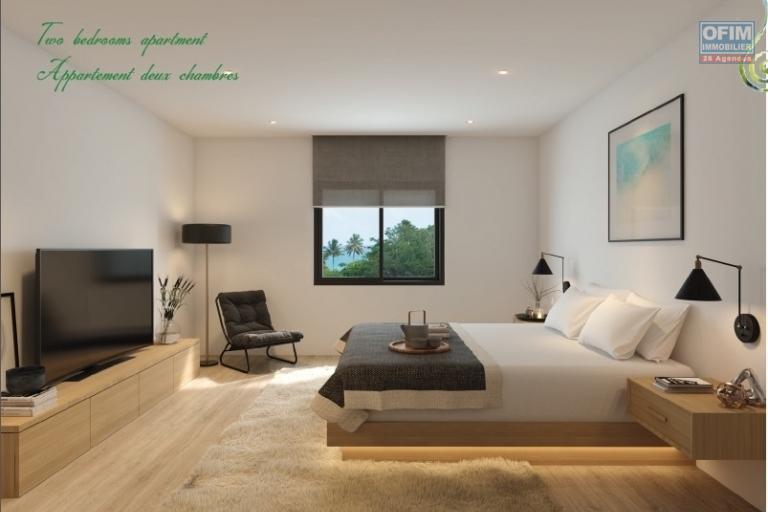 Tamarin, au cœur de la smart city accessible aux étrangers, appartement de deux chambres au 1er étage 86.4m2.
