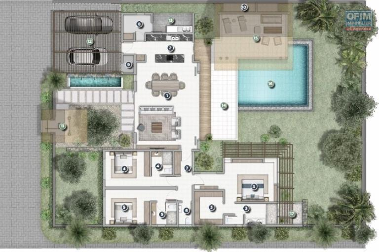 Tamarin vente villas PDS accessibles aux étranger situé dans un agréable quartier sécurisé