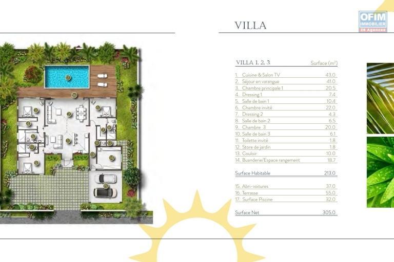 A vendre en local belle Villa à chemin 20 pieds, Grand Baie. Vente sur plan avec réservation.