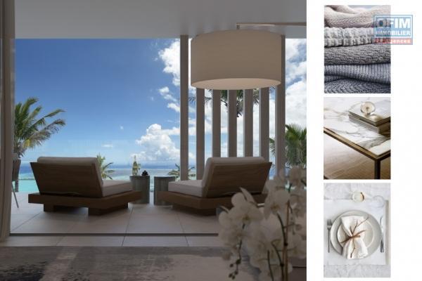 Accessible aux étrangers: Vente très bel appartement de luxe F3 avec sublime vue mer à Pointe aux Canonniers île Maurice.