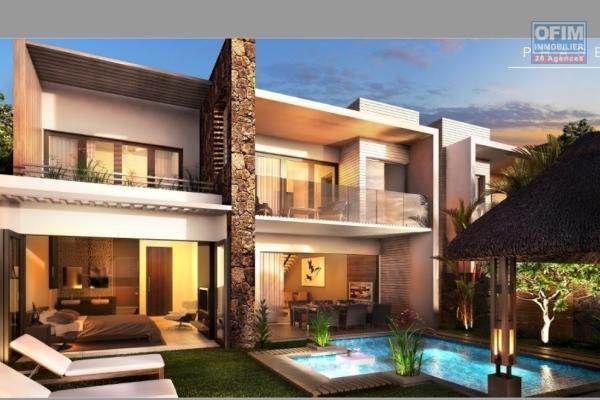 Accessible aux étrangers et aux mauriciens :  A vendre une villa neuve avec un statut RES permettant l'achat par des étrangers avec obtention d'un permis de résidence permanent située à 2 pas de la station balnéaire de Grand Baie.