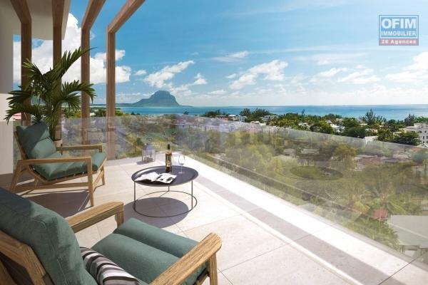 Accessible aux étrangers et aux mauriciens: A vendre dans une belle résidence avec accès directement à une plage privée, un appartement éligible à l'achat aux étrangers sur la cote nord-est de l'ile Maurice.