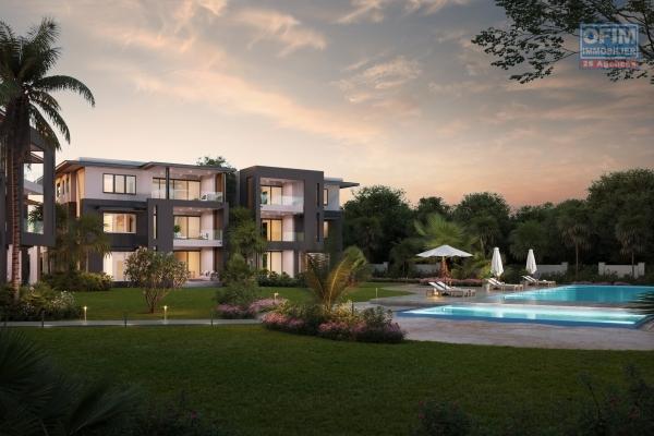 Accessible aux étrangers : A vendre programme de 48 appartements à 150 m de la plage et vue mer à Balaclava île Maurice