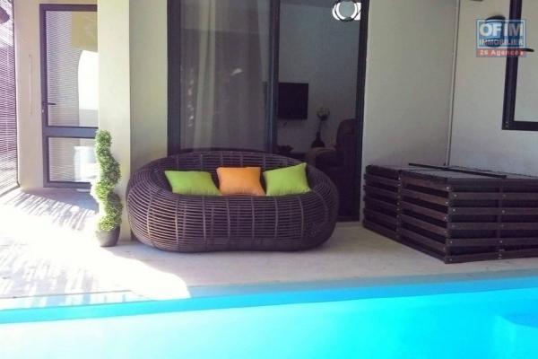 A louer appartement 2 chambres climatisées avec piscine privative Flic en Flac île Maurice