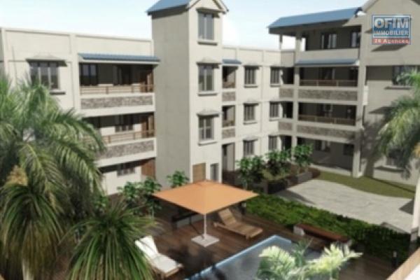 Flic en Flac à vendre appartements de standing accessibles aux étrangers avec piscine, dans une résidence sécurisée et à deux pas de la plage au calme.