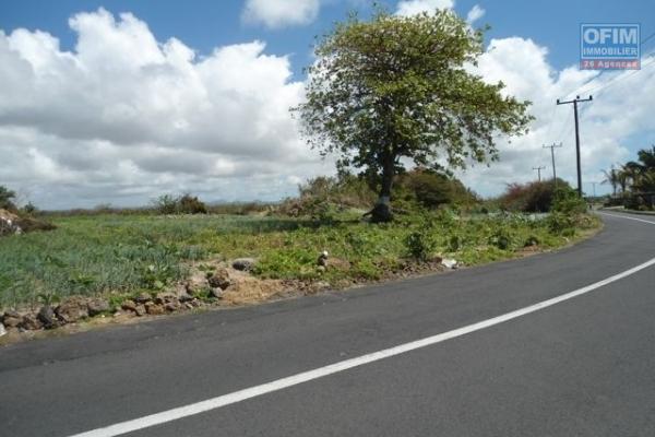 Chamarel à vendre terrain agricole de 6,350.49m² très bien situé dans un cadre verdoyant.